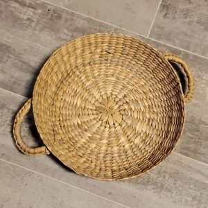 Vintage Accents - Set of 2 Wicker Boho Shallow Vintage Baskets